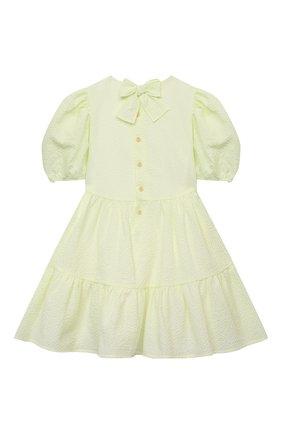 Детское хлопковое платье IL GUFO желтого цвета, арт. P21VM607C0053/5A-8A | Фото 2