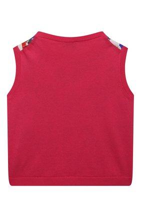 Детский жилет из хлопка и шелка DOLCE & GABBANA разноцветного цвета, арт. L5KWD4/JACJV/2-6 | Фото 2 (Материал внешний: Шелк, Хлопок; Девочки Кросс-КТ: Жилет-одежда; Рукава: Без рукавов; Ростовка одежда: 2 года | 92 см, 3 года | 98 см, 4 года | 104 см, 5 лет | 110 см, 6 лет | 116 см)