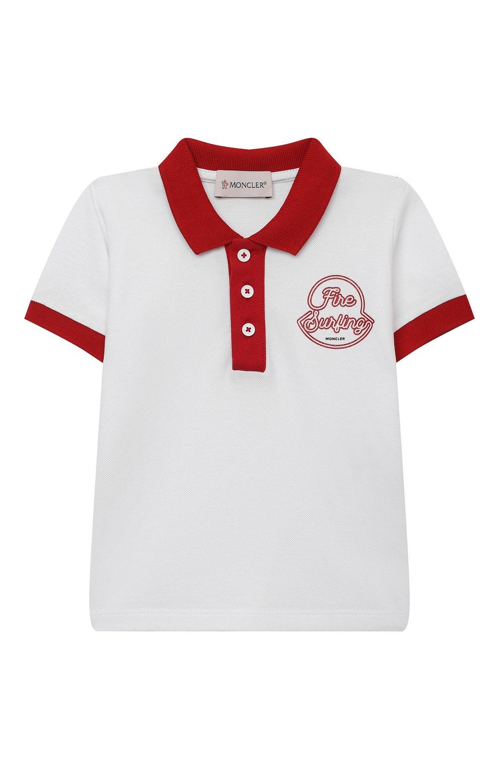 Детский комплект из поло и шорт MONCLER красного цвета, арт. G1-951-8M760-20-8496F | Фото 2