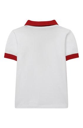 Детский комплект из поло и шорт MONCLER красного цвета, арт. G1-951-8M760-20-8496F | Фото 3