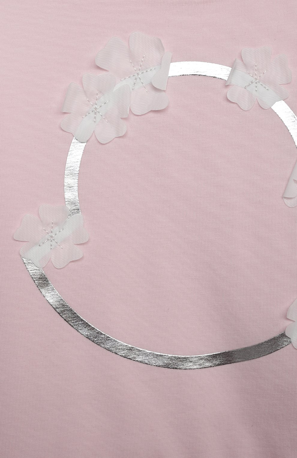 Женский хлопковое платье MONCLER светло-розового цвета, арт. G1-951-8I724-10-8790N | Фото 3