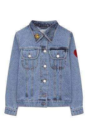 Детская джинсовая куртка NATASHA ZINKO голубого цвета, арт. SS21MNZ402-87/3-8 | Фото 1