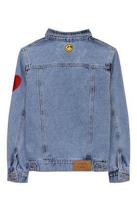 Детская джинсовая куртка NATASHA ZINKO голубого цвета, арт. SS21MNZ402-87/3-8 | Фото 2