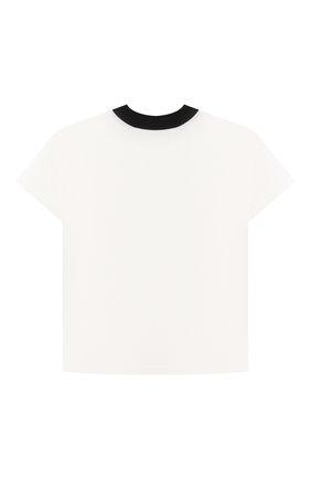 Детская хлопковая футболка NATASHA ZINKO белого цвета, арт. SS21MNZ511-06/01/3-8 | Фото 2