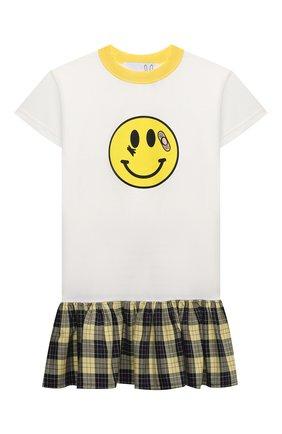 Детское хлопковое платье NATASHA ZINKO белого цвета, арт. SS21MNZ105-06/117/3-8 | Фото 1