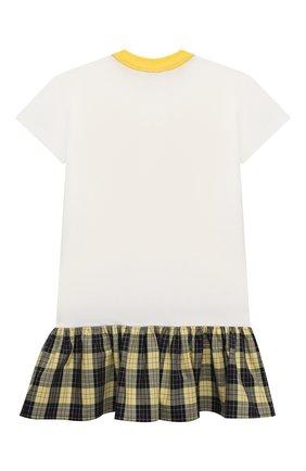 Детское хлопковое платье NATASHA ZINKO белого цвета, арт. SS21MNZ105-06/117/3-8 | Фото 2
