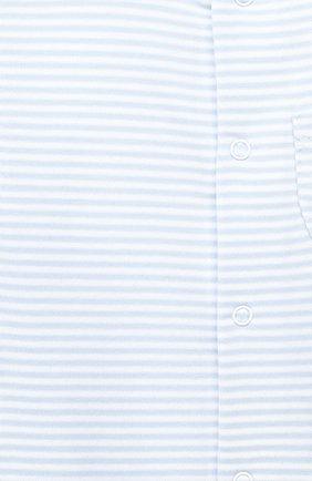 Детского комплект из пяти предметов KISSY KISSY голубого цвета, арт. 44192   Фото 5 (Материал внешний: Хлопок; Ростовка одежда: 0 - 3 мес   50 - 60 см, 6 мес   68 см)