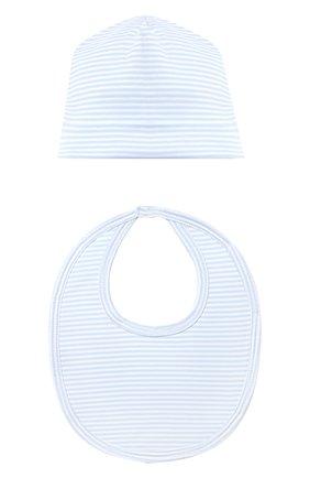 Детского комплект из пяти предметов KISSY KISSY голубого цвета, арт. 44192   Фото 6 (Материал внешний: Хлопок; Ростовка одежда: 0 - 3 мес   50 - 60 см, 6 мес   68 см)