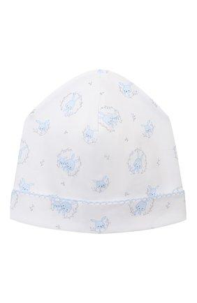 Детского хлопковая шапка KISSY KISSY голубого цвета, арт. KB505661N | Фото 1
