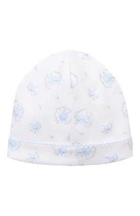 Детского хлопковая шапка KISSY KISSY голубого цвета, арт. KB505661N | Фото 2