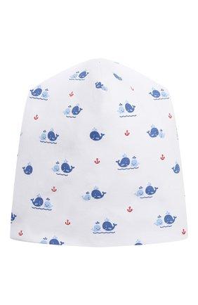 Детского хлопковая шапка KISSY KISSY синего цвета, арт. KB505746N | Фото 1