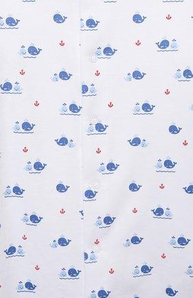 Детский хлопковый комбинезон KISSY KISSY синего цвета, арт. KBQ05734N   Фото 3