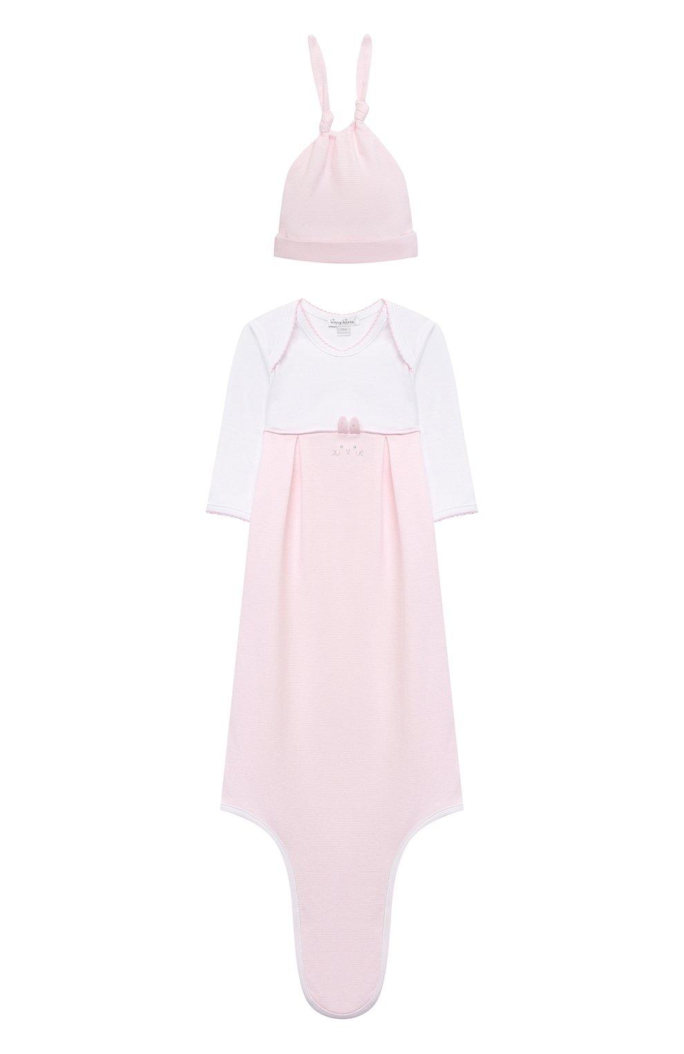 Детский комплект из комбинезона и шапки KISSY KISSY розового цвета, арт. KGW05650N | Фото 1