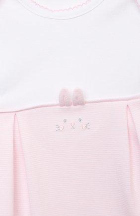 Детский комплект из комбинезона и шапки KISSY KISSY розового цвета, арт. KGW05650N | Фото 4