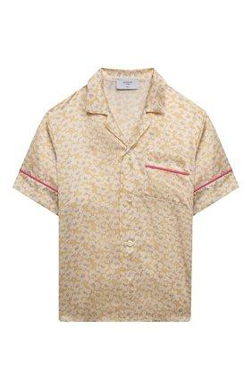 Детское шелковая блузка PAADE MODE желтого цвета, арт. 21214612/10Y-14Y   Фото 1