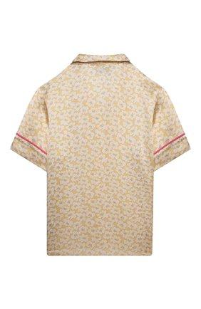 Детское шелковая блузка PAADE MODE желтого цвета, арт. 21214612/10Y-14Y   Фото 2