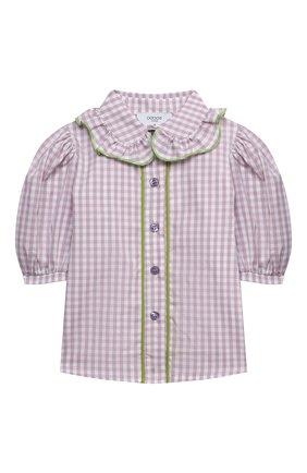 Детское хлопковая блузка PAADE MODE сиреневого цвета, арт. 21213001/4Y-8Y | Фото 1