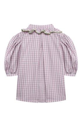 Детское хлопковая блузка PAADE MODE сиреневого цвета, арт. 21213001/4Y-8Y | Фото 2