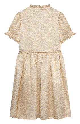 Детское шелковое платье PAADE MODE желтого цвета, арт. 21210021/4Y-8Y   Фото 2