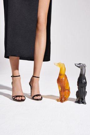 Скульптура собака борзая LALIQUE оранжевого цвета, арт. 10733800 | Фото 2