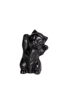 Скульптура котенок LALIQUE черного цвета, арт. 10733400 | Фото 1