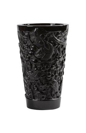 Ваза merles & raisins средняя LALIQUE черного цвета, арт. 10732300 | Фото 1