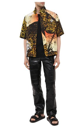 Мужские кожаные шлепанцы mallorca BALENCIAGA черного цвета, арт. 656839/WA2M6 | Фото 2