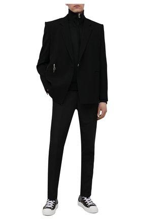 Мужские комбинированные кеды b23 DIOR черного цвета, арт. 3SH118YJP   Фото 2