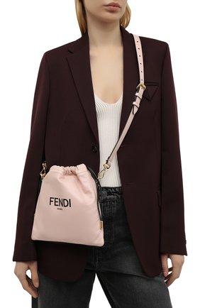 Женская сумка FENDI светло-розового цвета, арт. 8BT337 ADM9 | Фото 2