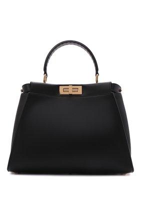 Женская сумка peekaboo  FENDI черного цвета, арт. 8BN290 ABV2 | Фото 1
