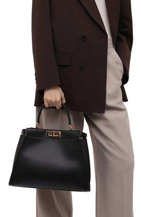 Женская сумка peekaboo  FENDI черного цвета, арт. 8BN290 ABV2 | Фото 2