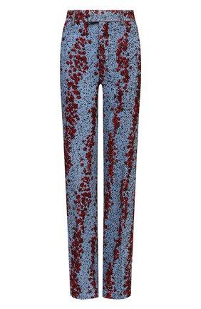 Женские брюки из вискозы BOTTEGA VENETA голубого цвета, арт. 657739/V0YU0 | Фото 1