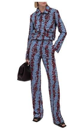 Женские брюки из вискозы BOTTEGA VENETA голубого цвета, арт. 657739/V0YU0 | Фото 2