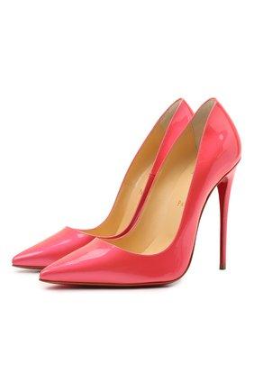 Женские кожаные туфли so kate 120 CHRISTIAN LOUBOUTIN розового цвета, арт. 1211029/S0 KATE 120 | Фото 1