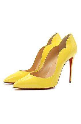 Женские кожаные туфли hot chick 100 CHRISTIAN LOUBOUTIN желтого цвета, арт. 1190911/H0T CHICK 100 | Фото 1