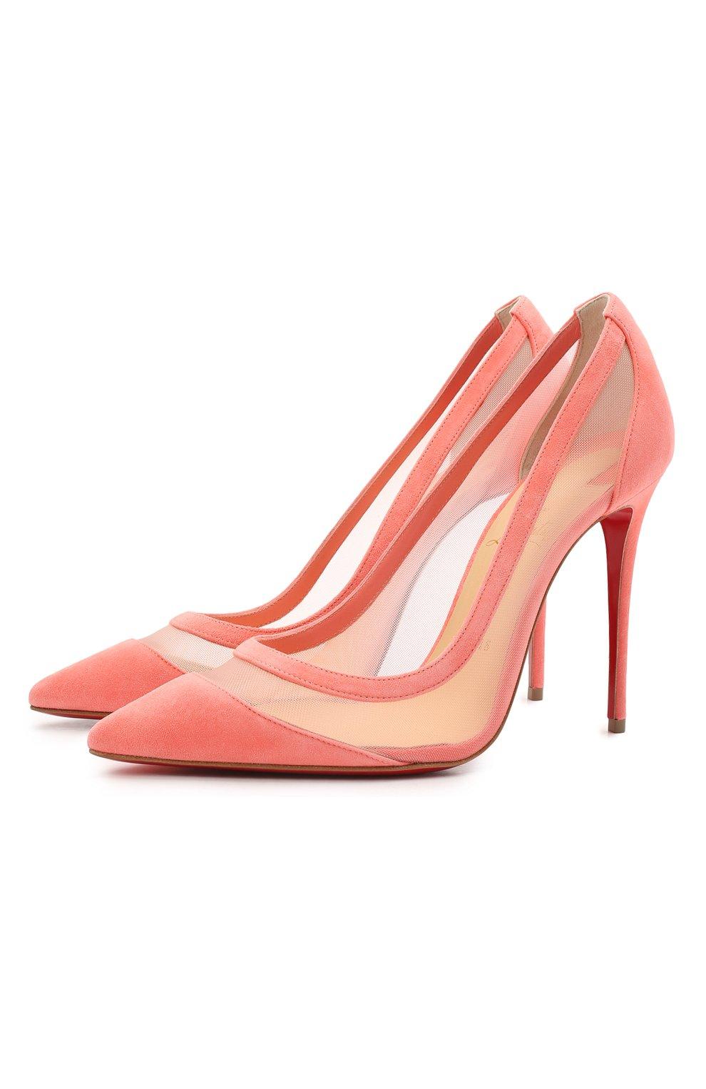 Женские комбинированные туфли galativi 100 CHRISTIAN LOUBOUTIN розового цвета, арт. 1210717/GALATIVI 100 | Фото 1