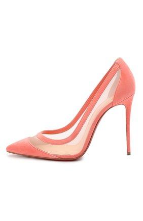 Женские комбинированные туфли galativi 100 CHRISTIAN LOUBOUTIN розового цвета, арт. 1210717/GALATIVI 100 | Фото 3