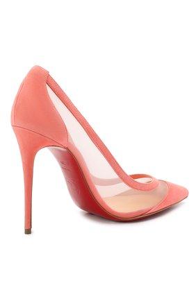 Женские комбинированные туфли galativi 100 CHRISTIAN LOUBOUTIN розового цвета, арт. 1210717/GALATIVI 100 | Фото 4
