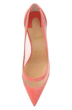 Женские комбинированные туфли galativi 100 CHRISTIAN LOUBOUTIN розового цвета, арт. 1210717/GALATIVI 100 | Фото 5