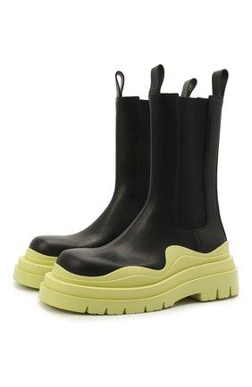 Женские кожаные ботинки bv tire BOTTEGA VENETA зеленого цвета, арт. 630297/VBS50 | Фото 1