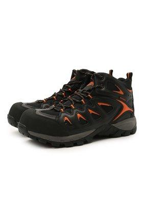 Мужские комбинированные ботинки HARLEY-DAVIDSON черного цвета, арт. D93329 | Фото 1 (Мужское Кросс-КТ: Ботинки-обувь; Материал внутренний: Текстиль; Подошва: Массивная)