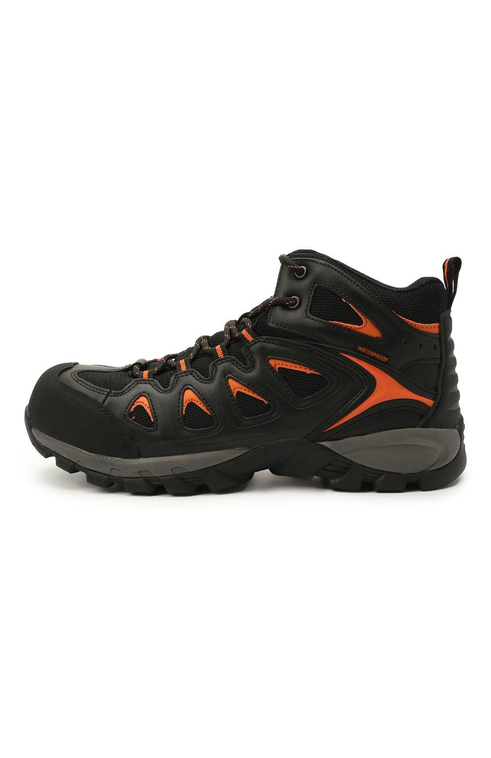 Мужские комбинированные ботинки HARLEY-DAVIDSON черного цвета, арт. D93329 | Фото 3 (Мужское Кросс-КТ: Ботинки-обувь; Материал внутренний: Текстиль; Подошва: Массивная)