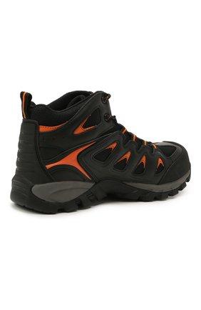 Мужские комбинированные ботинки HARLEY-DAVIDSON черного цвета, арт. D93329 | Фото 4 (Мужское Кросс-КТ: Ботинки-обувь; Материал внутренний: Текстиль; Подошва: Массивная)
