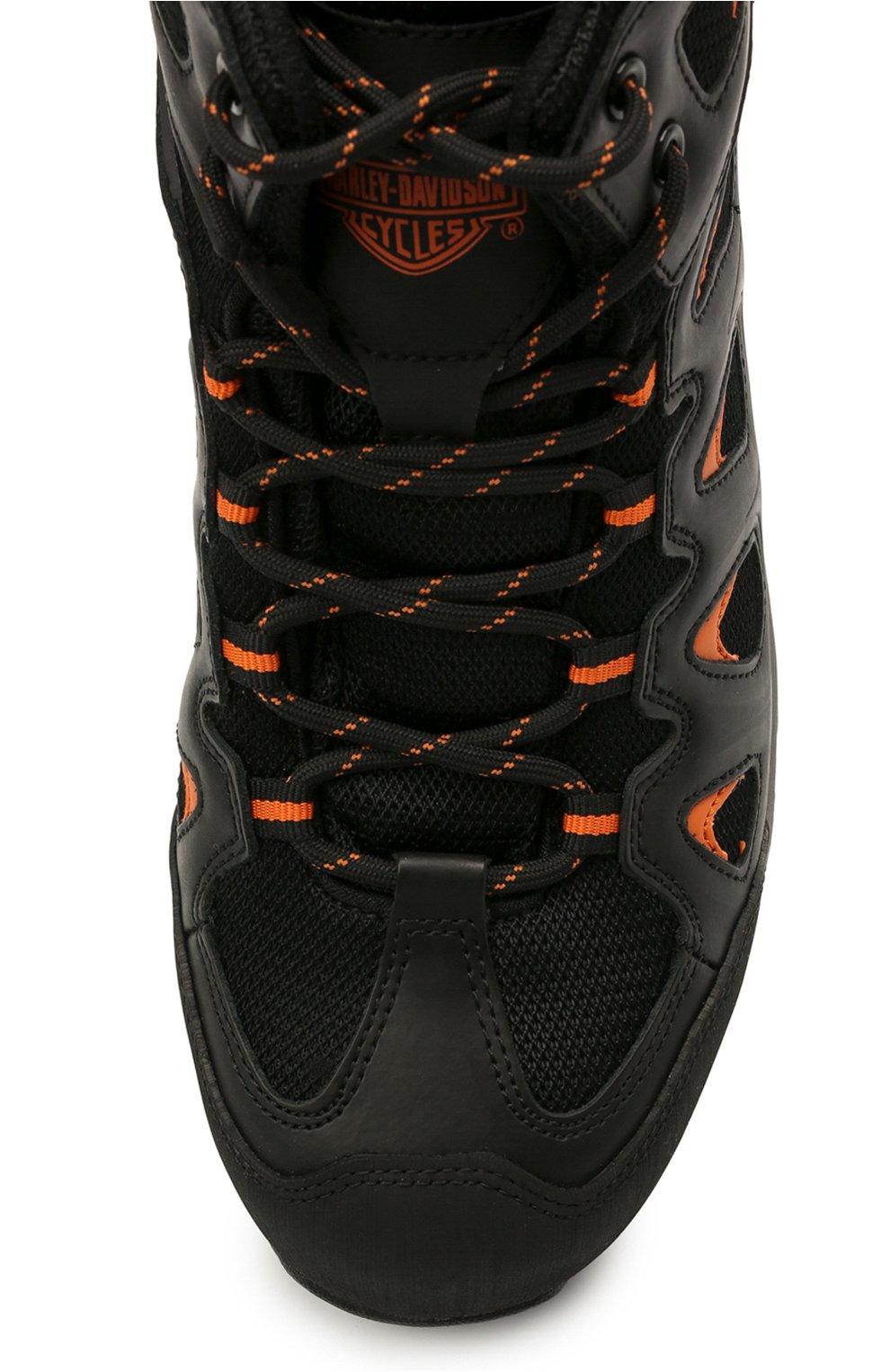 Мужские комбинированные ботинки HARLEY-DAVIDSON черного цвета, арт. D93329 | Фото 5 (Мужское Кросс-КТ: Ботинки-обувь; Материал внутренний: Текстиль; Подошва: Массивная)