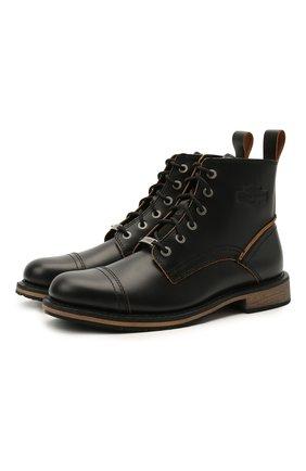 Мужские кожаные ботинки HARLEY-DAVIDSON черного цвета, арт. D93665 | Фото 1