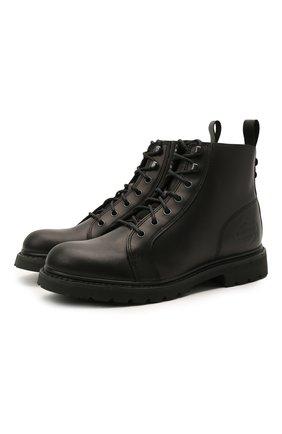 Мужские кожаные ботинки HARLEY-DAVIDSON черного цвета, арт. D93698 | Фото 1