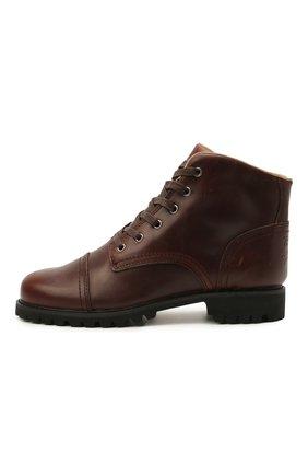 Мужские кожаные ботинки HARLEY-DAVIDSON коричневого цвета, арт. D93714 | Фото 3 (Мужское Кросс-КТ: Ботинки-обувь; Материал внутренний: Натуральная кожа; Подошва: Плоская)