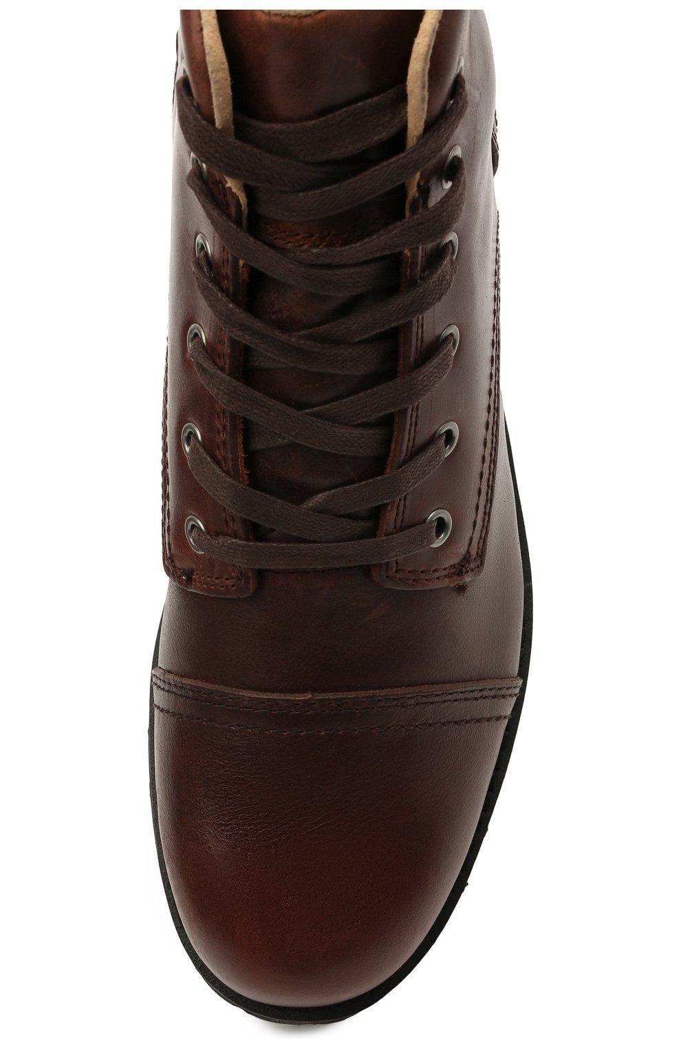 Мужские кожаные ботинки HARLEY-DAVIDSON коричневого цвета, арт. D93714 | Фото 5 (Мужское Кросс-КТ: Ботинки-обувь; Материал внутренний: Натуральная кожа; Подошва: Плоская)