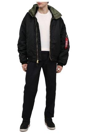 Мужские кожаные кеды HARLEY-DAVIDSON черного цвета, арт. D93726 | Фото 2