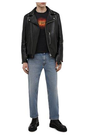 Мужская хлопковая футболка HARLEY-DAVIDSON черного цвета, арт. R003769 | Фото 2 (Рукава: Короткие; Принт: С принтом; Стили: Панк; Материал внешний: Хлопок; Длина (для топов): Стандартные)